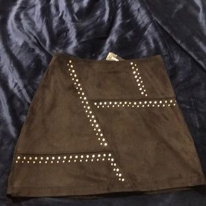 Suede skirt from Express